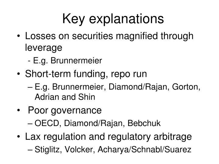 Key explanations
