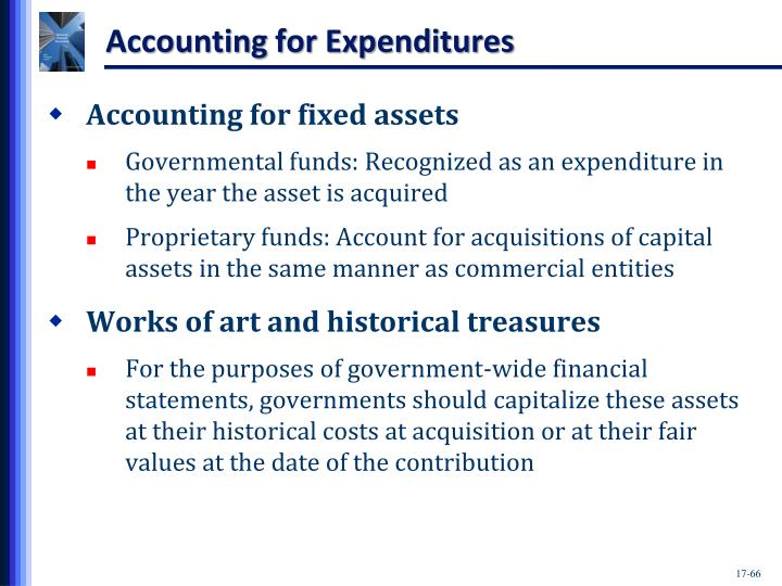Accounting for Expenditures