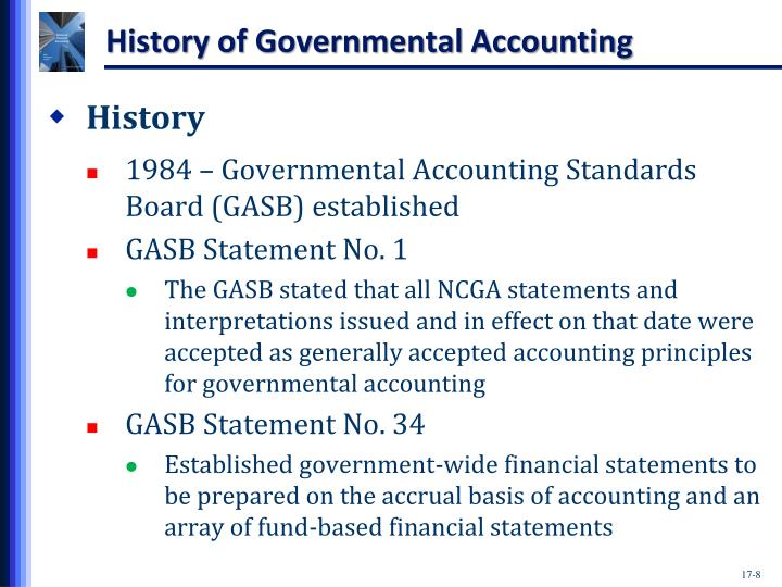 History of Governmental Accounting