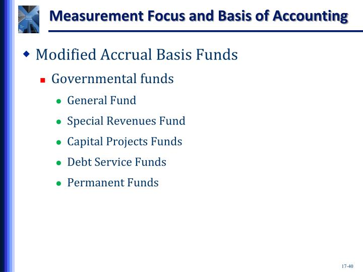 Measurement Focus and Basis of Accounting