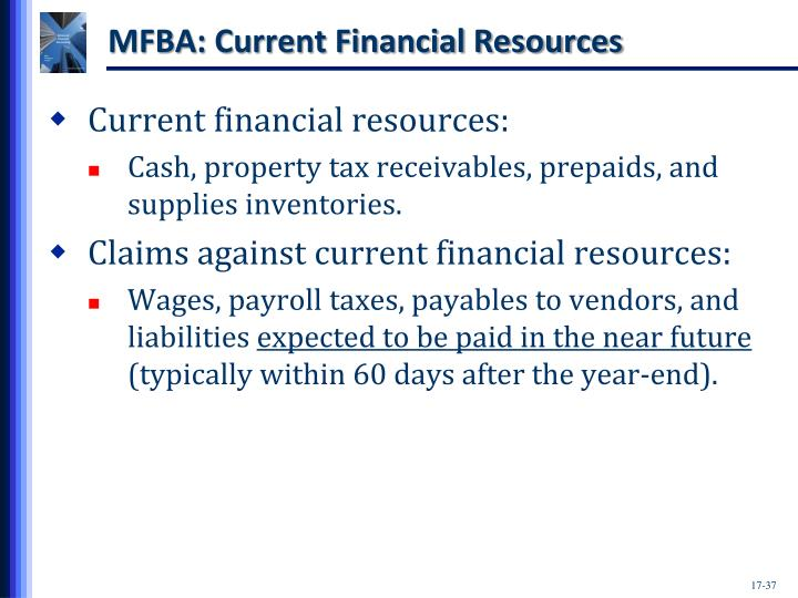 MFBA: Current Financial Resources