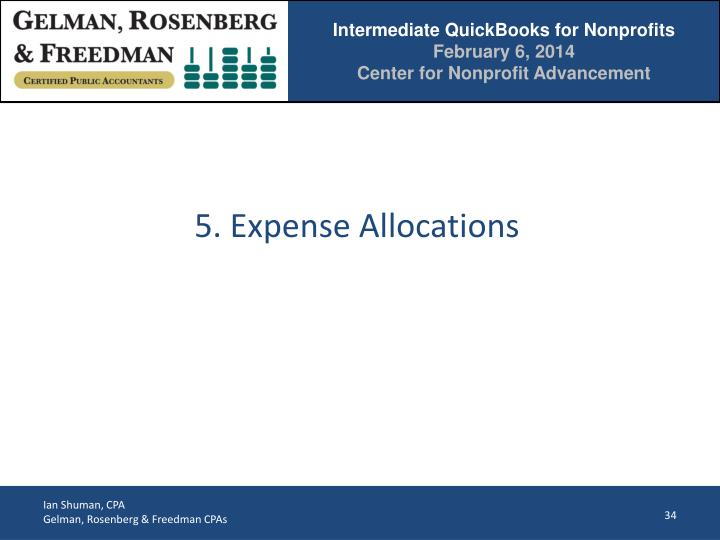 5. Expense Allocations