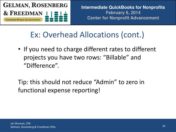 Ex: Overhead Allocations (cont.)