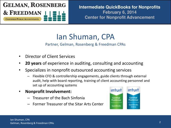 Ian Shuman, CPA
