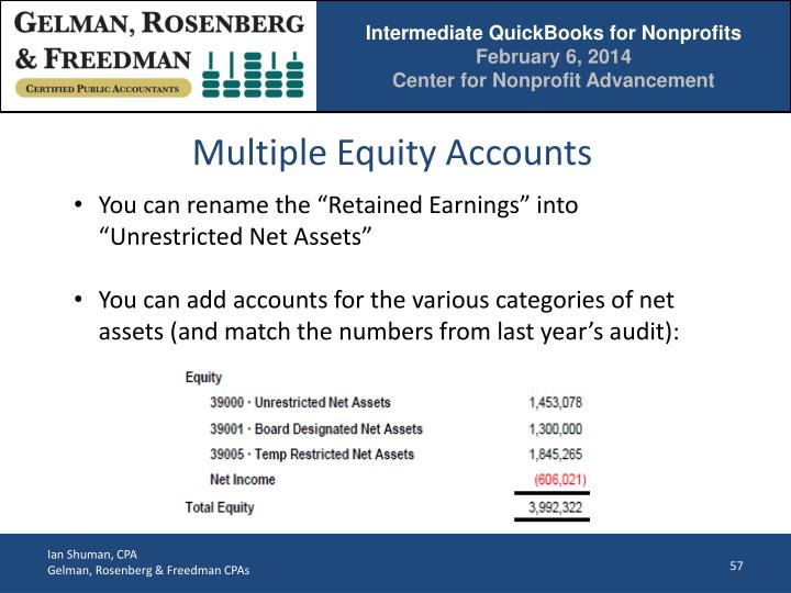 Multiple Equity Accounts
