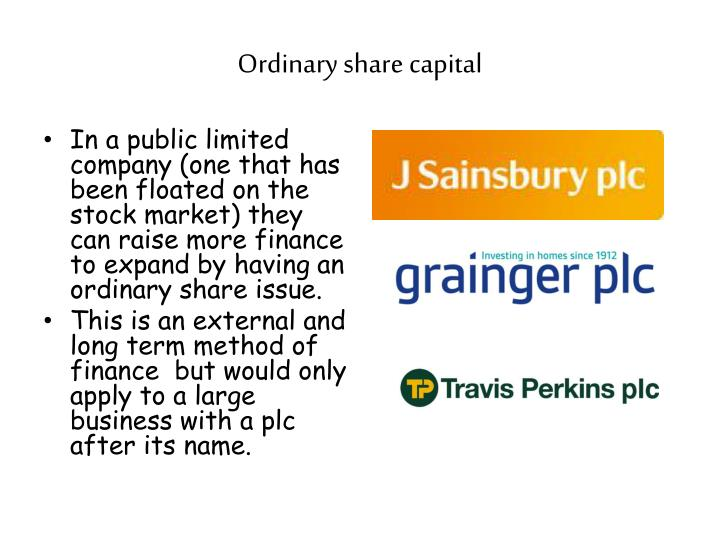 Ordinary share capital