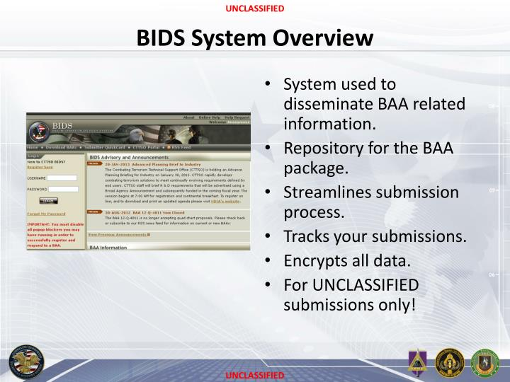BIDS System Overview
