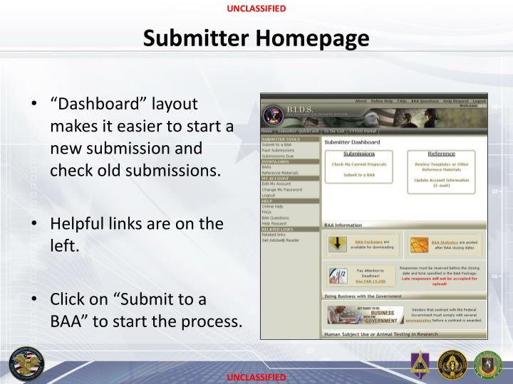 Submitter Homepage