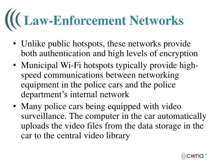 Law-Enforcement Networks
