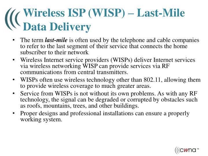 Wireless ISP (WISP) – Last-Mile Data Delivery