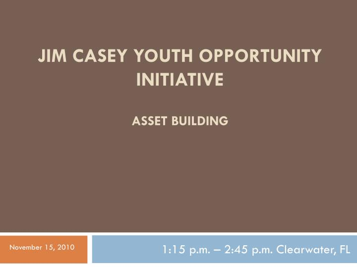 Jim casey youth opportunity initiative