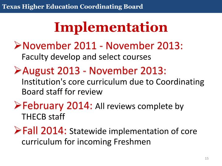 Core Curriculum 2014