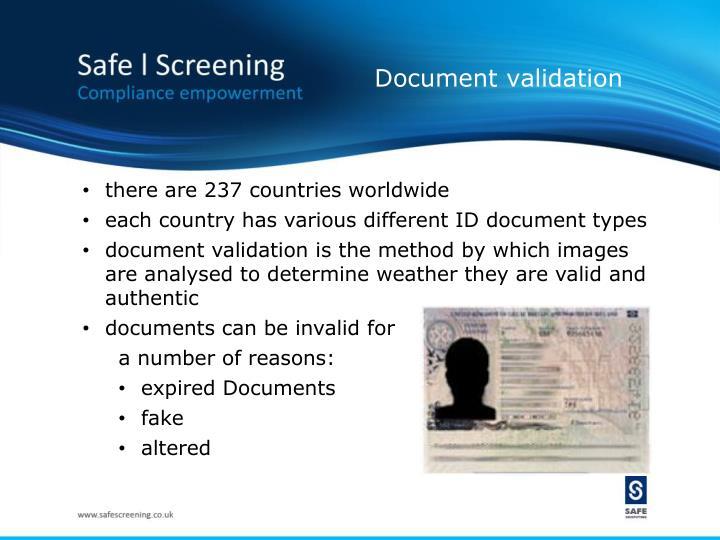 Document validation