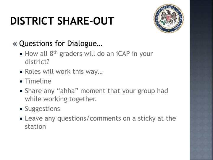 District Share-Out