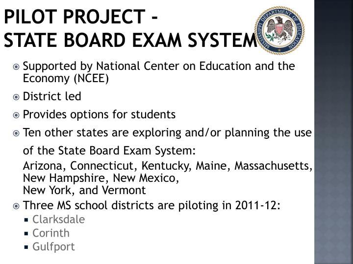 Pilot Project -