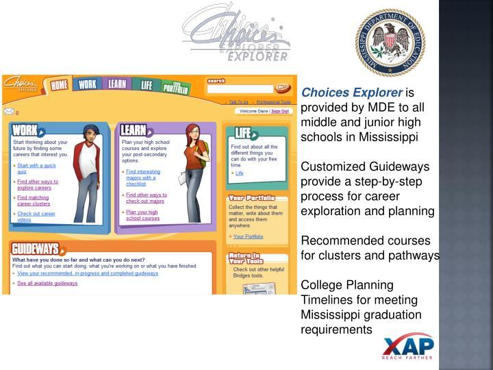Choices Explorer