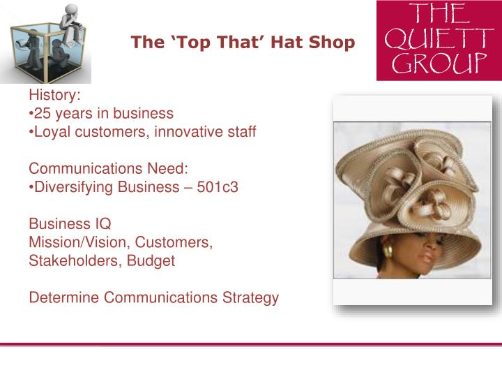 The 'Top That' Hat Shop