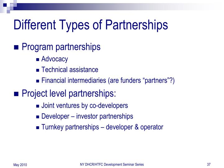 Different Types of Partnerships