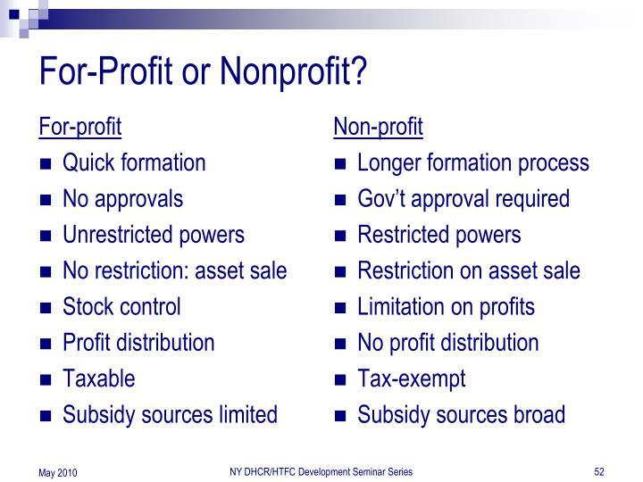 For-profit