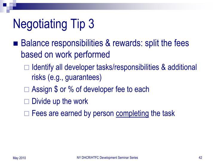 Negotiating Tip 3