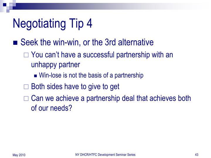 Negotiating Tip 4