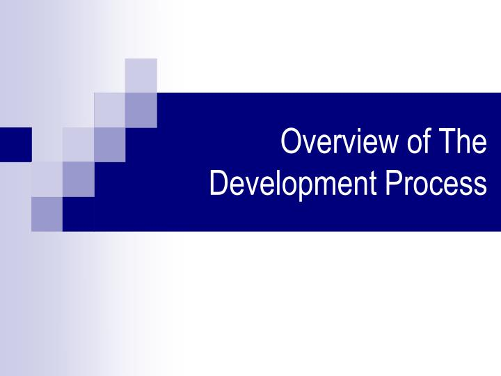 Overview of The Development Process