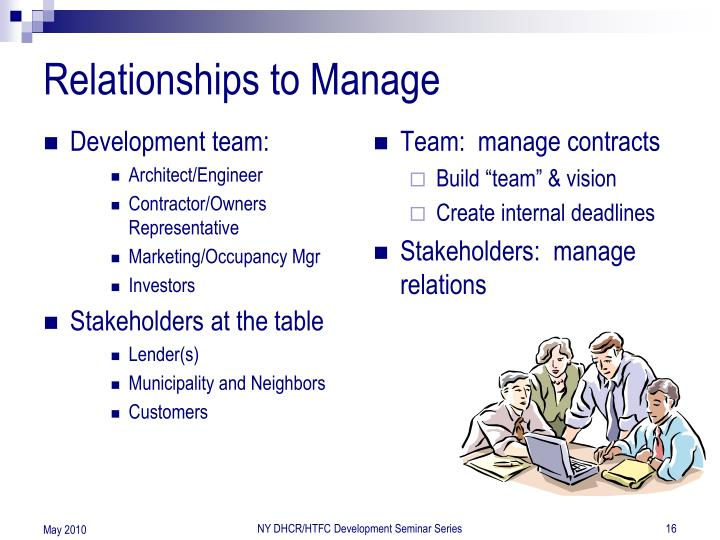 Relationships to Manage