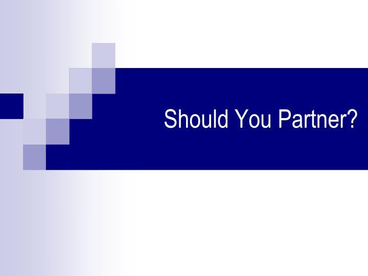 Should You Partner?