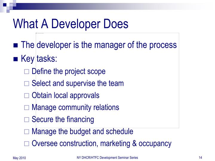 What A Developer Does
