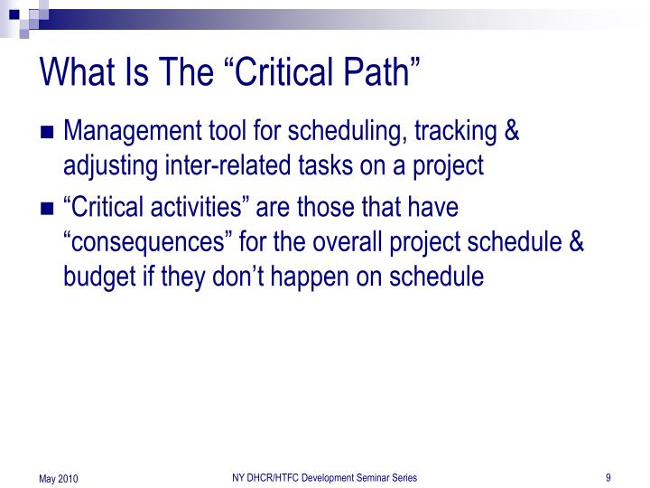 """What Is The """"Critical Path"""""""