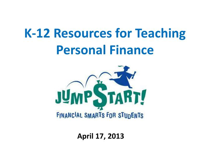 K 12 resources for teaching personal finance