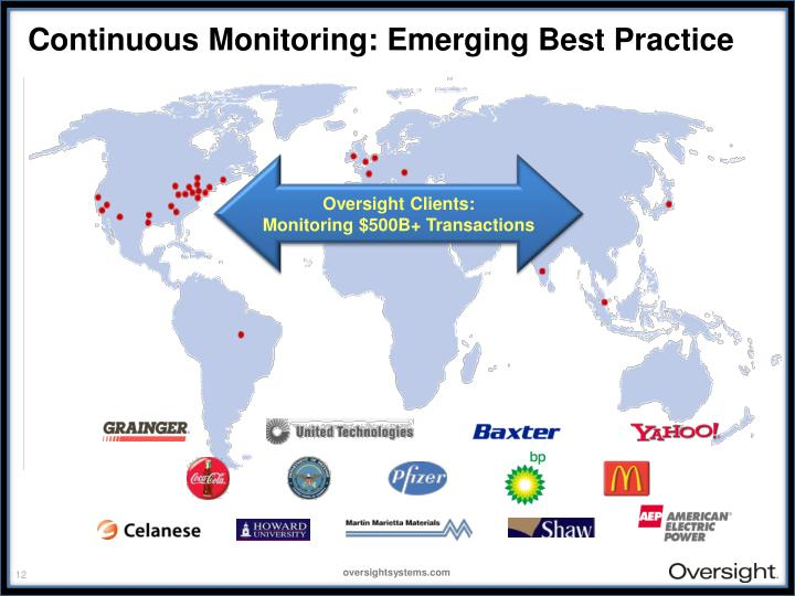 Continuous Monitoring: Emerging Best Practice
