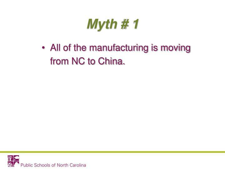 Myth # 1