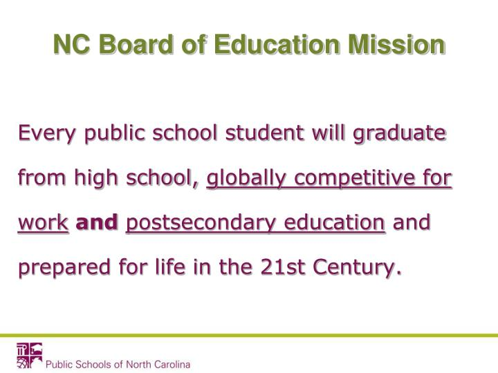 NC Board of Education Mission