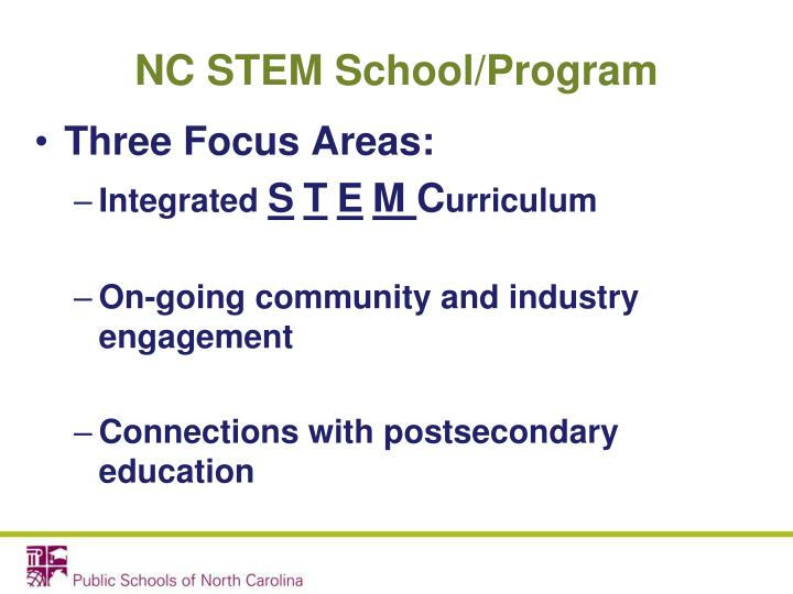 NC STEM School/Program