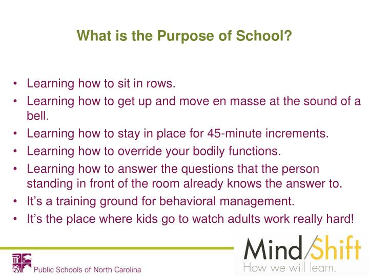What is the Purpose of School?