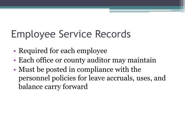 Employee Service Records