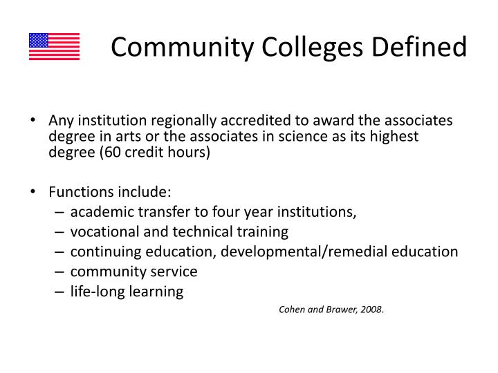 Community Colleges Defined