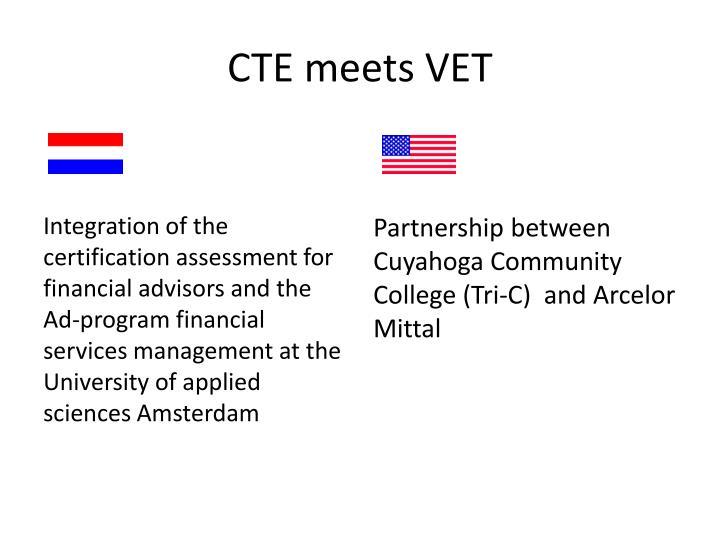 CTE meets VET
