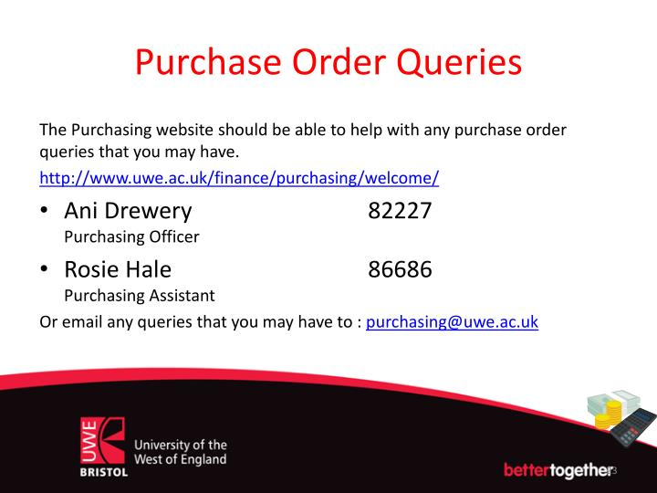 Purchase Order Queries