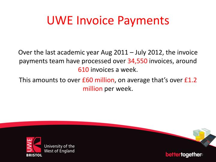 UWE Invoice Payments