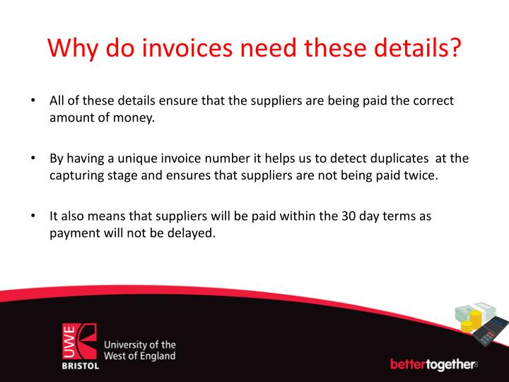 Why do invoices need these details?