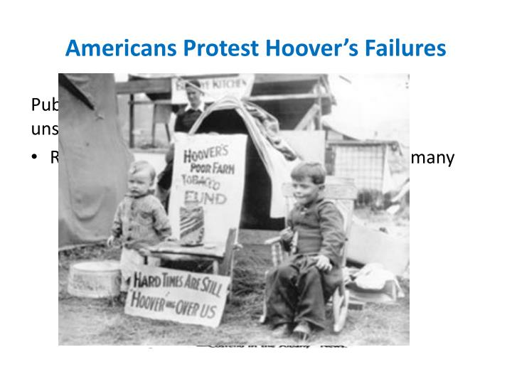 Americans Protest Hoover's Failures