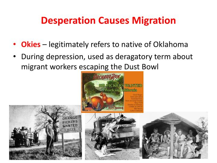 Desperation Causes Migration