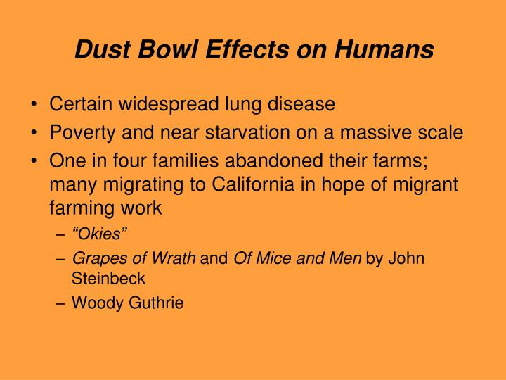 Dust Bowl Effects on Humans