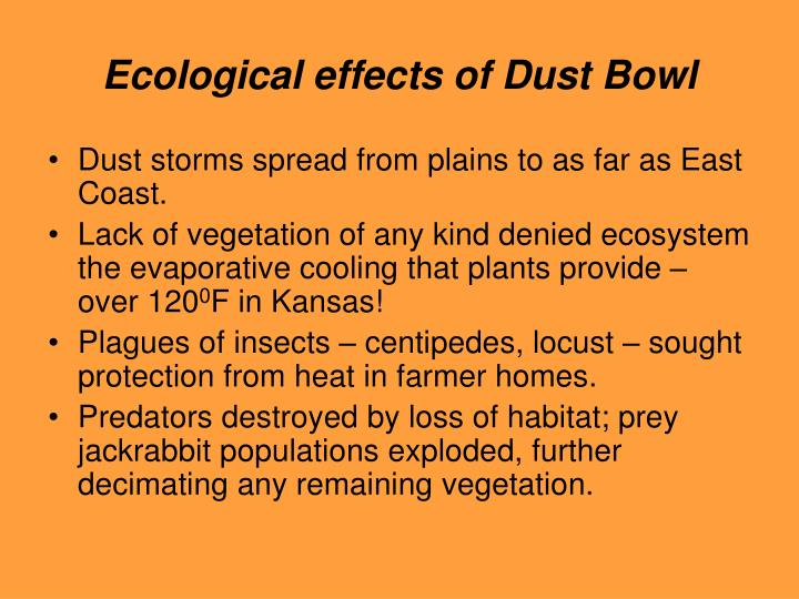 Ecological effects of Dust Bowl