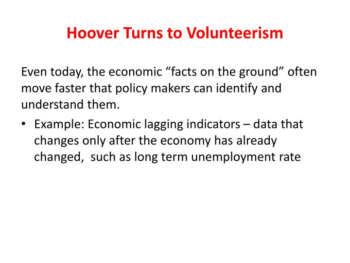 Hoover Turns to Volunteerism