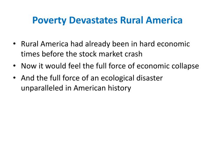 Poverty Devastates Rural America
