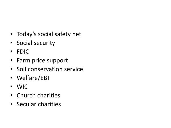 Today's social safety net