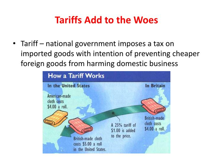 Tariffs Add to the Woes